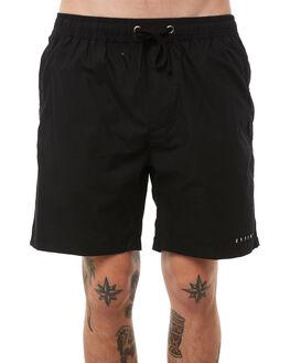 BLACK MENS CLOTHING THRILLS BOARDSHORTS - TA8-302BBLK