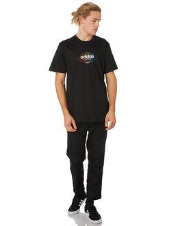 BLACK MULTI COLOUR MENS CLOTHING ADIDAS TEES - DU8349BLACK