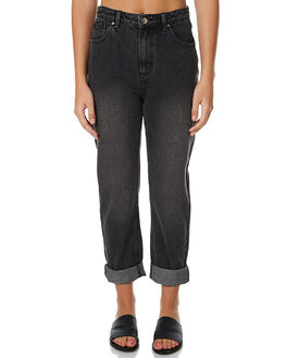 WASHED BLACK WOMENS CLOTHING MINKPINK JEANS - MD1610930BLK