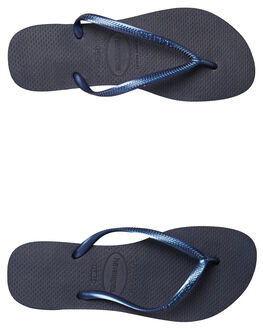 NAVY BLUE WOMENS FOOTWEAR HAVAIANAS THONGS - HSMS0555NBL