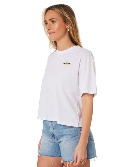 EL CAMINO WHITE WOMENS CLOTHING BRIXTON TEES - 02827ELWHT