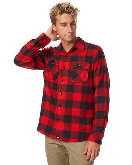 RED BLACK MENS CLOTHING DICKIES SHIRTS - K1171102RDBK