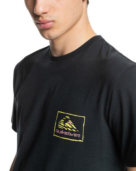 BLACK MENS CLOTHING QUIKSILVER TEES - EQYZT06540-KVJ0