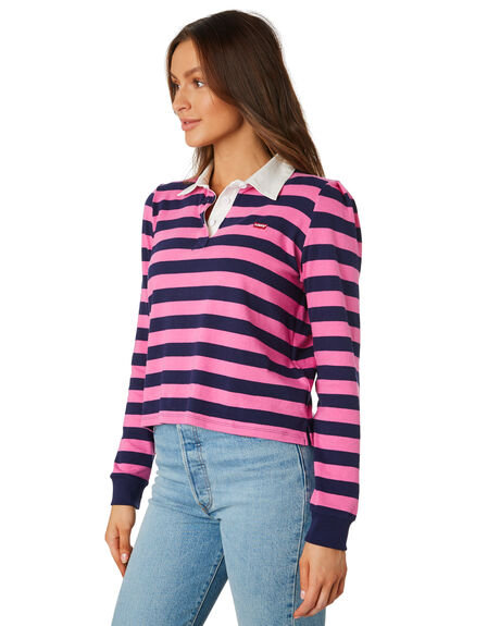 PINK STRIPE WOMENS CLOTHING LEVI'S TEES - 79145-00020002