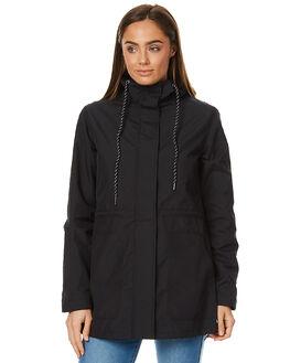 BLACK WOMENS CLOTHING VOLCOM JACKETS - B1511702BLK
