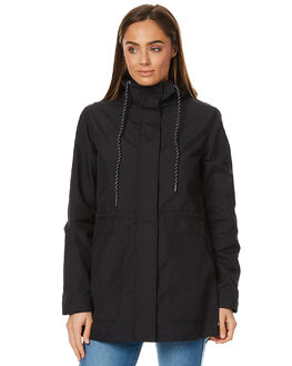 BLACK WOMENS CLOTHING VOLCOM JACKETS - B1511702BLK