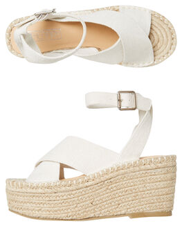 NATURAL LINEN WOMENS FOOTWEAR THERAPY FASHION SANDALS - SOLE-A3009NATL