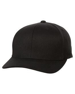 BLACK MENS ACCESSORIES FLEX FIT HEADWEAR - 171004BLK