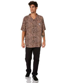 TAN MENS CLOTHING STUSSY SHIRTS - ST093408TAN