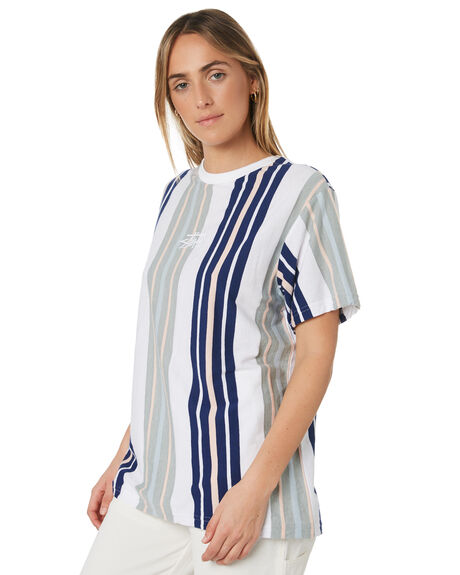 WHITE STRIPE WOMENS CLOTHING STUSSY TEES - ST191108WHIS