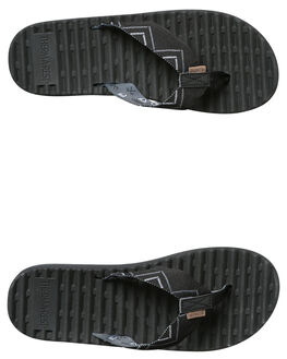 BLACK MENS FOOTWEAR FREEWATERS THONGS - MO041BLK