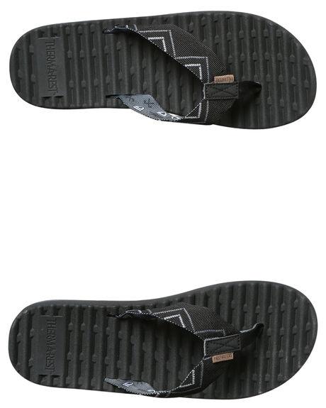 BLACK MENS FOOTWEAR FREEWATERS THONGS - MO041BLK
