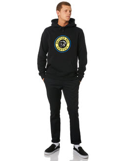 BLACK YELLOW MENS CLOTHING BRIXTON JUMPERS - 02495BKYEL