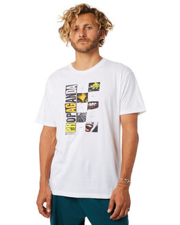 WHITE MENS CLOTHING OBEY TEES - 165361796WHT