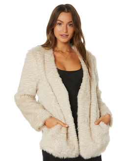 CREAM WOMENS CLOTHING UNREAL FUR JACKETS - URF8100345CRM