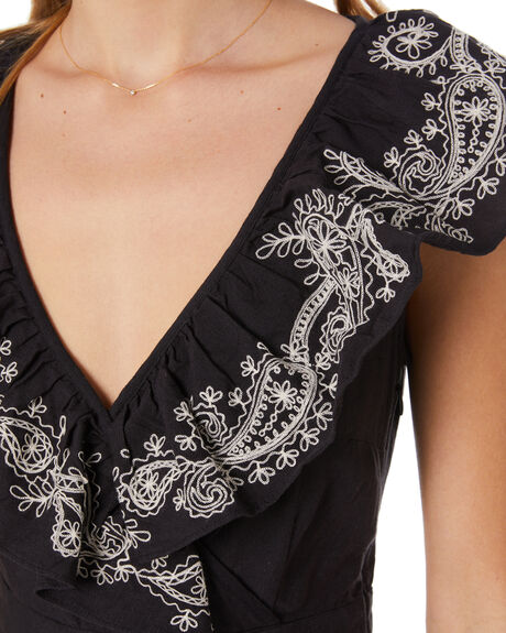 BLACK WOMENS CLOTHING TIGERLILY DRESSES - T305425BLK