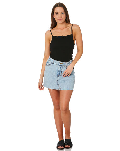 WASHED BLACK OUTLET WOMENS SWELL SINGLETS - S8201007BKWSH