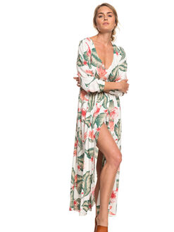 MARSHMALLOW TROPICAL WOMENS CLOTHING ROXY DRESSES - ERJWD03309-WBT7