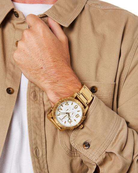 ALL GOLD WHITE MENS ACCESSORIES NIXON WATCHES - A083-508
