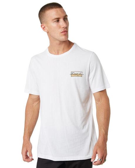 WHITE MENS CLOTHING RVCA TEES - R182094AWHT