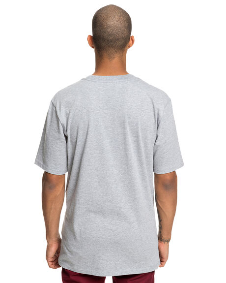 GREY HEATHER MENS CLOTHING DC SHOES TEES - UDYZT03599-KNFH