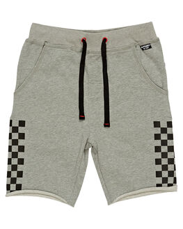 GREY MARLE KIDS BOYS ALPHABET SOUP SHORTS - AS-KFC8343GRMR