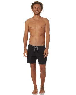 WASHED BLACK MENS CLOTHING RHYTHM BOARDSHORTS - OCT18M-TR05-BLK
