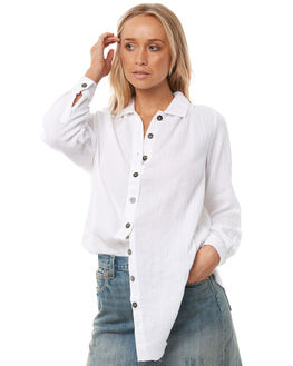 WHITE WOMENS CLOTHING SAINT HELENA FASHION TOPS - SH17HS415WHT