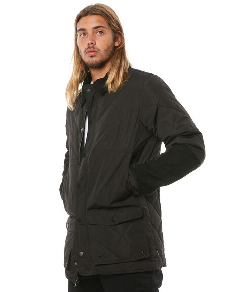 BLACK MENS CLOTHING BANKS JACKETS - WJT0026BLK
