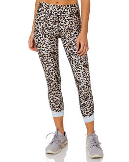 LEOPARD MULTI WOMENS CLOTHING THE UPSIDE ACTIVEWEAR - USW120037LEOML