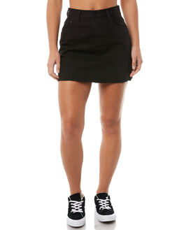 BLACK DUST WOMENS CLOTHING ZIGGY SKIRTS - ZW-1405BLKD