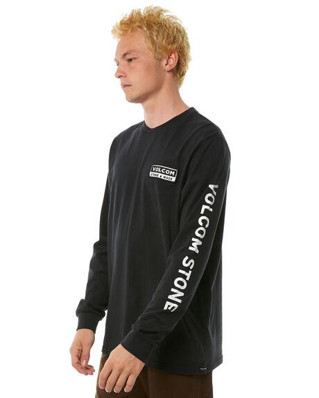 BLACK WHITE MENS CLOTHING VOLCOM TEES - A3611873BLK