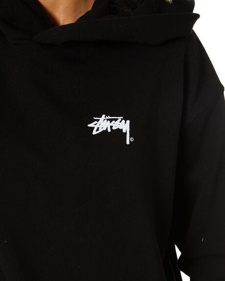 BLACK WOMENS CLOTHING STUSSY JUMPERS - ST1M0187BLK