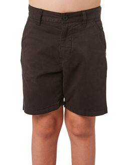 WASHED BLACK KIDS BOYS RIP CURL SHORTS - KWADE78264