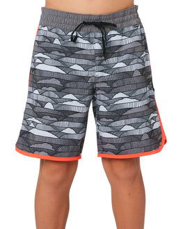 ANTHRACITE KIDS BOYS HURLEY BOARDSHORTS - AQ8000-060
