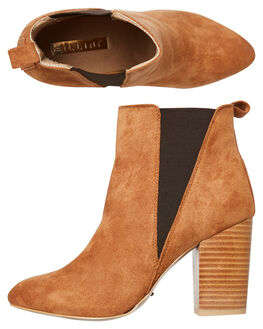 TAN SUEDE WOMENS FOOTWEAR BILLINI BOOTS - B949TAN