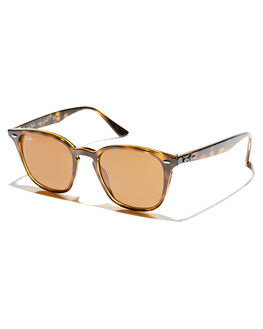 SHINY HAVANA UNISEX ADULTS RAY-BAN SUNGLASSES - 0RB425871073