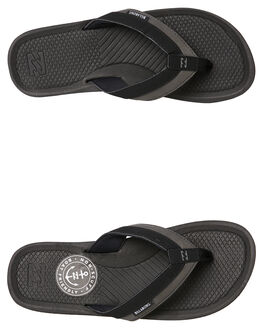 BLACK MENS FOOTWEAR BILLABONG THONGS - 9685942BLK