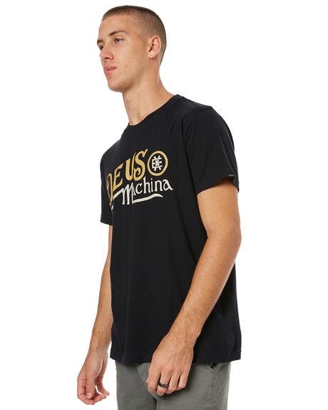 BLACK MENS CLOTHING DEUS EX MACHINA TEES - DMS71919ABLK