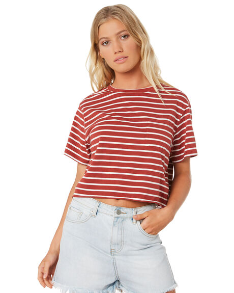 STRIPE OUTLET WOMENS SWELL TEES - S8182003STRIP
