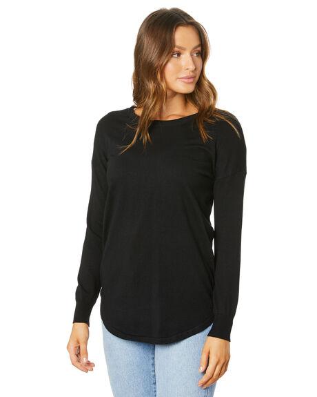 BLACK WOMENS CLOTHING BETTY BASICS KNITS + CARDIGANS - BB425W20BLK