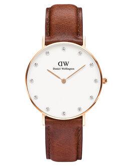 ROSE GOLD BROWN WOMENS ACCESSORIES DANIEL WELLINGTON WATCHES - DW00100075BRWN