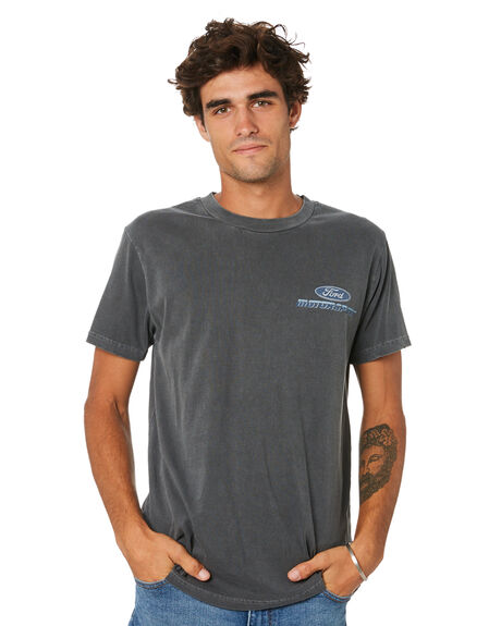 WASHED BLACK MENS CLOTHING ROLLAS TEES - 16139056