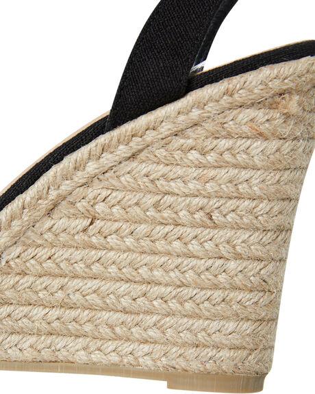 BLACK LINEN WOMENS FOOTWEAR BILLINI HEELS - W756BLK