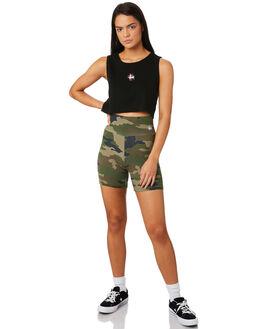BLACK WOMENS CLOTHING STUSSY SINGLETS - ST183230BLK