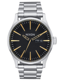 BLACK STAMPED GOLD MENS ACCESSORIES NIXON WATCHES - A3562730
