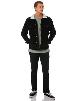 BLACK MENS CLOTHING RVCA JACKETS - R181433BLK