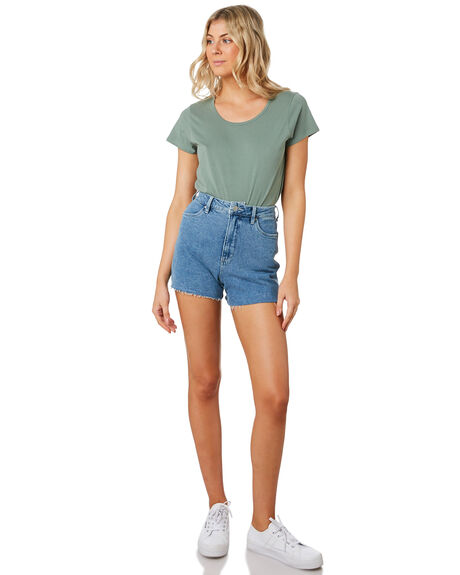SAGE WOMENS CLOTHING AS COLOUR TEES - 4008SAGE