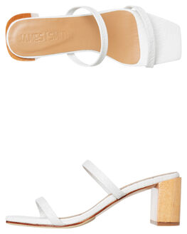 WHITE CROC WOMENS FOOTWEAR JAMES SMITH HEELS - 11671450WHTC