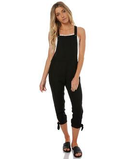 BLACK WOMENS CLOTHING RHYTHM PLAYSUITS + OVERALLS - OCT17W-QTM01BLK